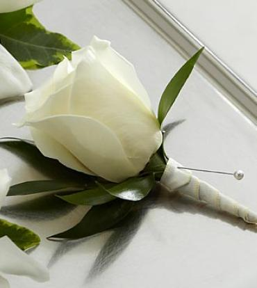The White Rose Boutonniere