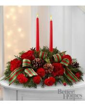 2 candle Holiday Centerpiece