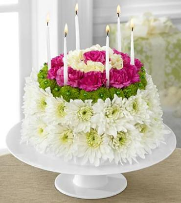 "The Wonderful Wishesâ""¢ Floral Cake"